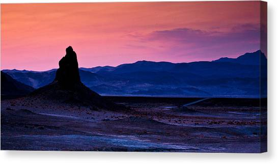 Mojave Desert Canvas Print - Dusk At Trona by Peter Tellone