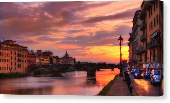 Dusk Florence Italy Canvas Print
