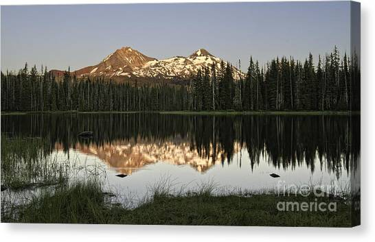 Dusk In The Cascades Canvas Print