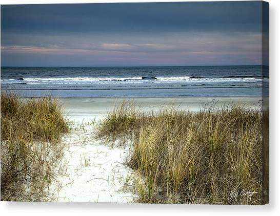 Low Tide Canvas Print - Dusk In The Dunes by Phill Doherty