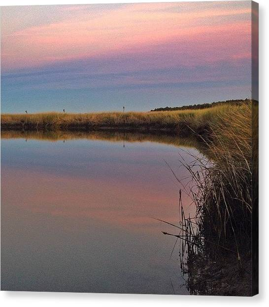 Seagrass Canvas Print - Dusk Marsh~ #latergram #twilight by Chris T Darling