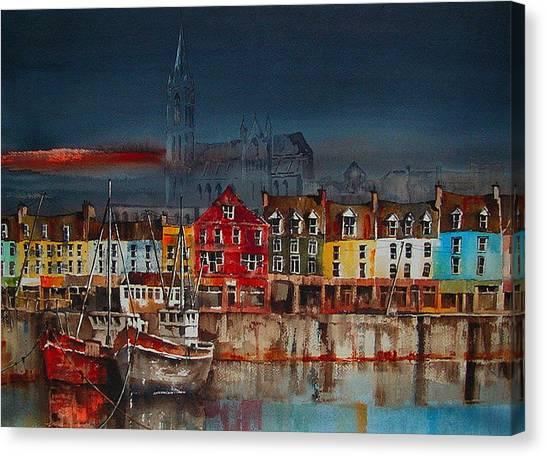 Dusk On Cobh Harbour Cork Canvas Print