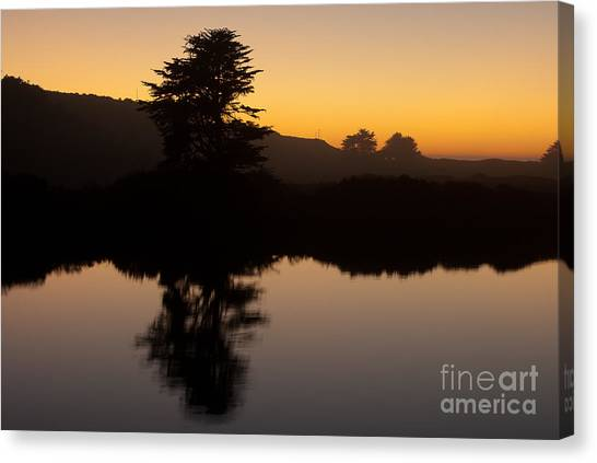 Dusk On Russian River - 7059 Canvas Print by Stephen Parker