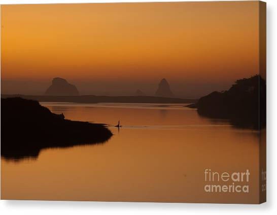 Dusk On Russian River 1.7062 Canvas Print by Stephen Parker