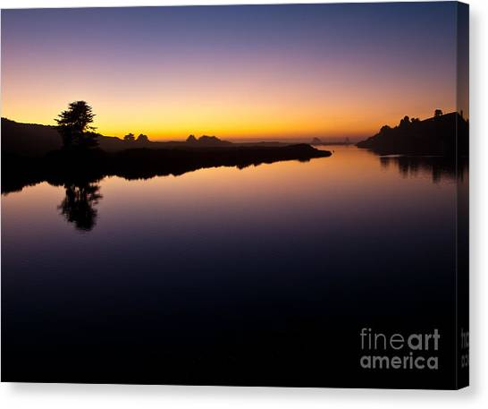 Dusk On Russian River 2.2751 Canvas Print by Stephen Parker
