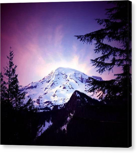Dusk On The Mountain Canvas Print