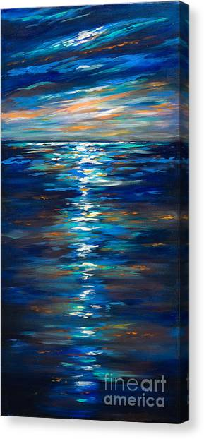 Dusk On The Ocean Canvas Print