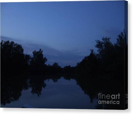 Dusk On The River Canvas Print