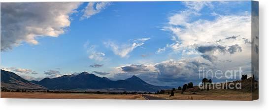 Dusk Over The Gallatin Range Canvas Print