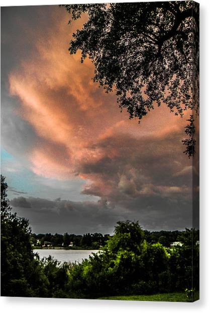 Dusk Storm  Canvas Print by Christy Usilton