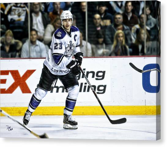Los Angeles Kings Canvas Print - Dustin Brown by Don Olea