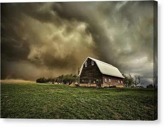 Barn Storm Canvas Print - Dusty Barn by Thomas Zimmerman