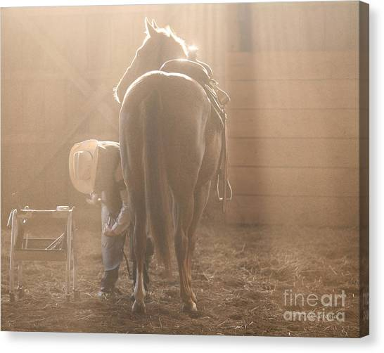 Dusty Morning Pedicure Canvas Print