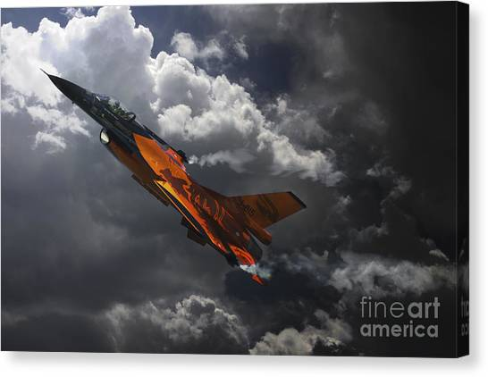 F16 Canvas Print - Dutch Demo Team by J Biggadike