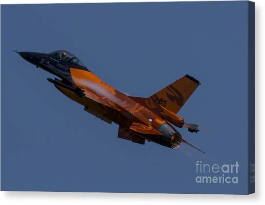 F16 Canvas Print - Dutch Lion  by J Biggadike