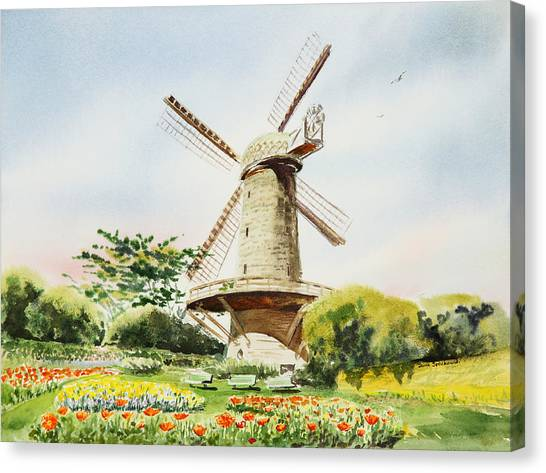 Dutch Windmill In San Francisco  Canvas Print