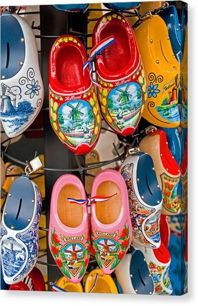 Dutch Wooden Shoes Canvas Print