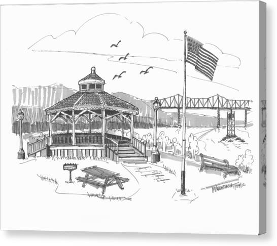 Dutchmen's Landing Catskill Canvas Print