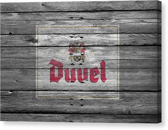 Beer Can Canvas Print - Duvel by Joe Hamilton