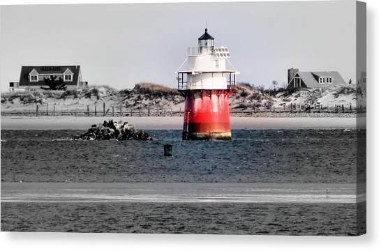 Duxbury Pier Light Canvas Print
