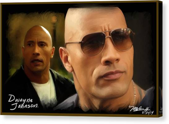 Dwayne Johnson Canvas Print - Dwayne Johnson - The Rock by Mark Gallegos