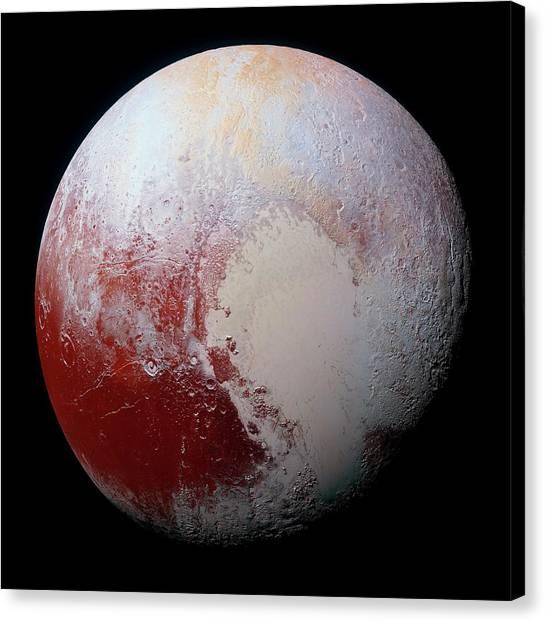 Pluto Canvas Print - Dwarf Planet Pluto by Nasa/jhuapl/swri