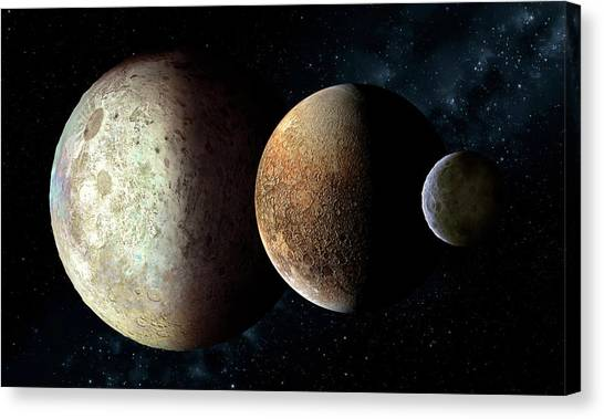 Pluto Canvas Print - Dwarf Planets (eris by Mark Garlick/science Photo Library