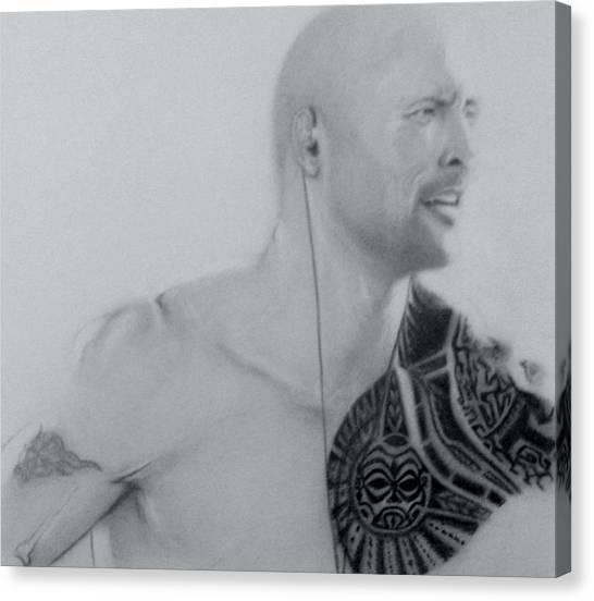 Dwayne Johnson Canvas Print - Dwayne Johnson by Chris Vanellis