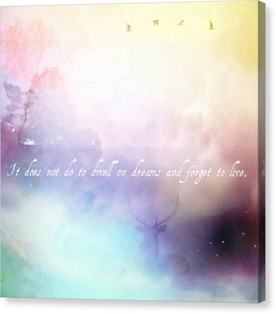 Harry Potter Canvas Print - Dwell by Elina Griggs
