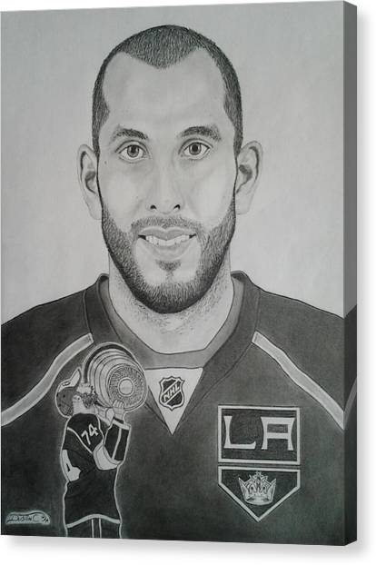 Los Angeles Kings Canvas Print - Dwight King by Dustin Caplette
