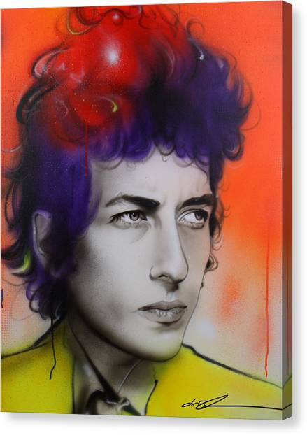 Bob Dylan Canvas Print - Dylan by Christian Chapman Art