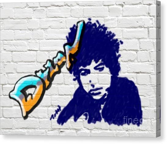 Dylan Graffiti Canvas Print