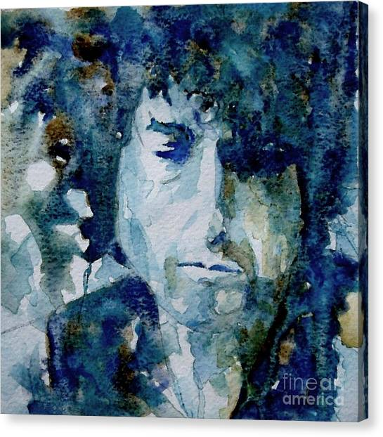 Bob Dylan Canvas Print - Dylan by Paul Lovering