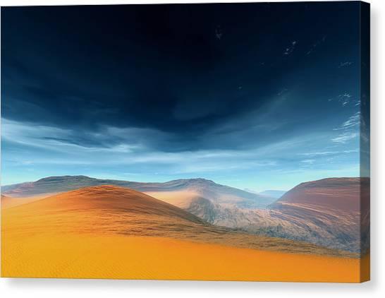 Dynamic Desert Canvas Print by Jean Paul Thierevere