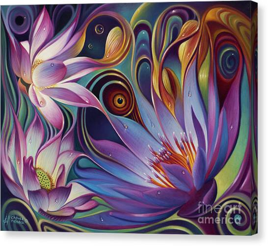 Dynamic Floral Fantasy Canvas Print