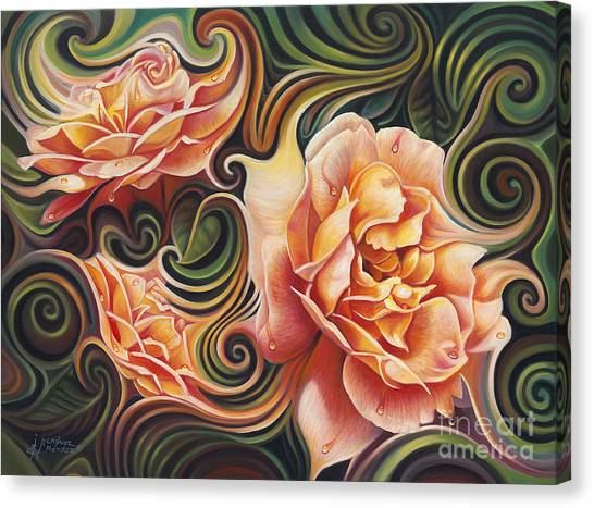 Dynamic Floral V  Roses Canvas Print