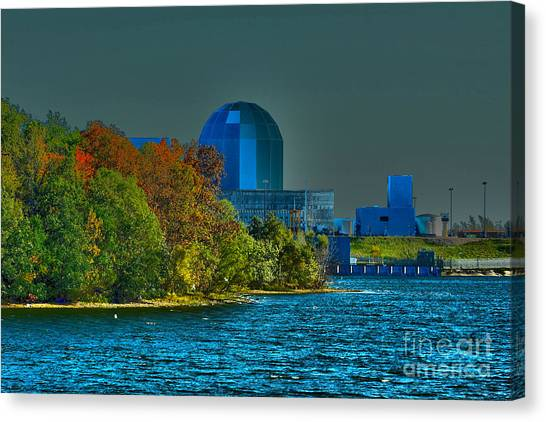 Nuclear Plants Canvas Print - Dynamic Glow by Alan Look