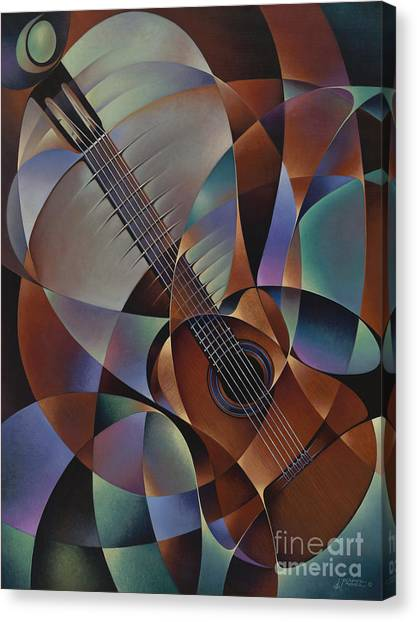 Dynamic Guitar Canvas Print