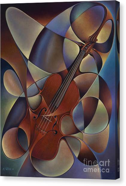 Dynamic Violin Canvas Print