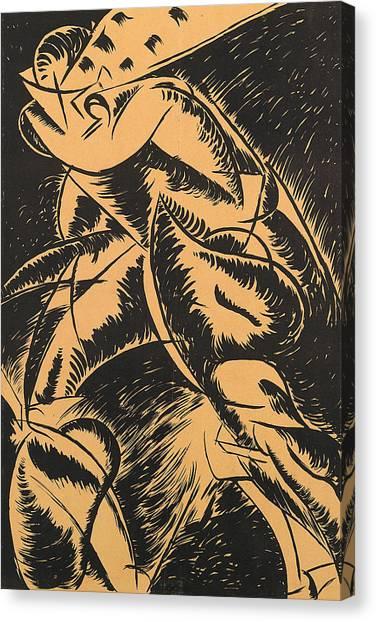 Futurism Canvas Print - Dynamism Of A Human Body by Umberto Boccioni