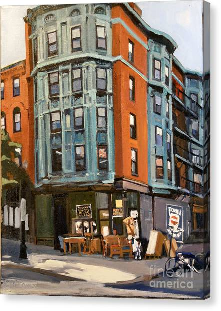 E And W Broadway Canvas Print