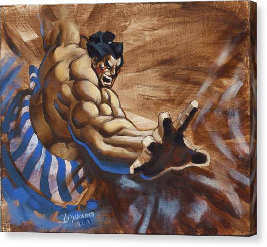 Street Fighter Canvas Print - E Honda by Luis  Navarro
