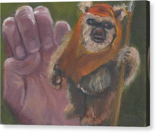 E Is For Ewok Canvas Print