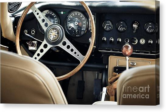E Type Jag - Interior Canvas Print