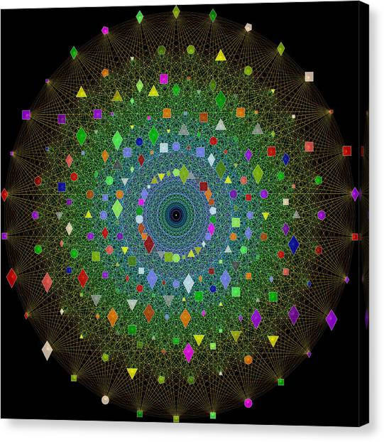 E8 Theory Of Everything Canvas Print by J Gregory Moxness
