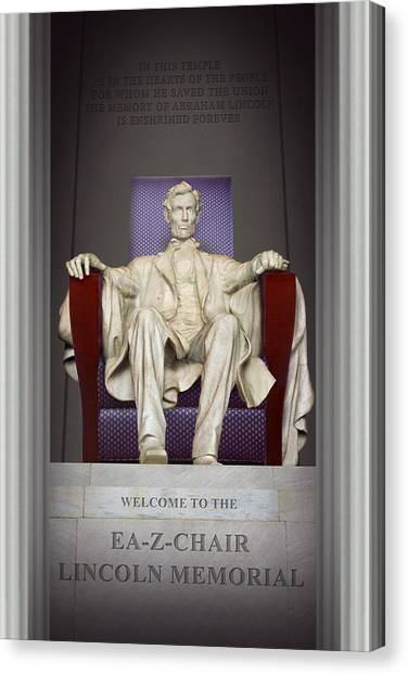 Lincoln Memorial Canvas Print - Ea-z-chair Lincoln Memorial 2 by Mike McGlothlen