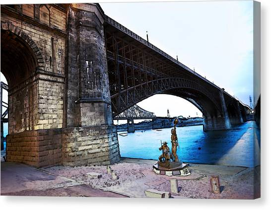 Eads Bridge 2 Canvas Print