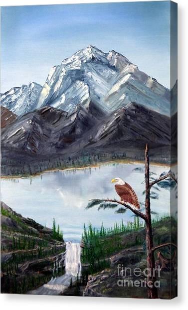 Eagle At Denali Canvas Print by Stephen Schaps