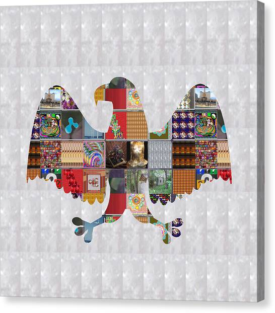 Eagle Scout Canvas Print - Eagle Bird Showcasing Navinjoshi Gallery Art Icons Buy Faa Products Or Download For Self Printing   by Navin Joshi