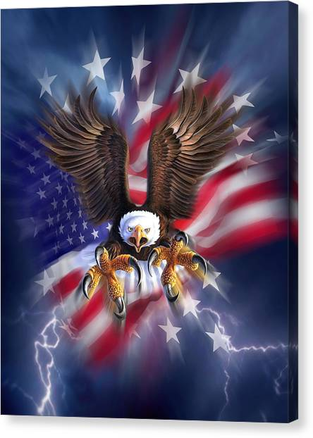 Eagles Canvas Print - Eagle Burst by Jerry LoFaro